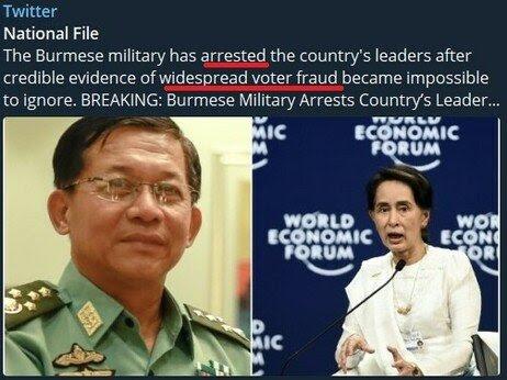 Burma Military Arrest their Leaders    Sierra (NZ)